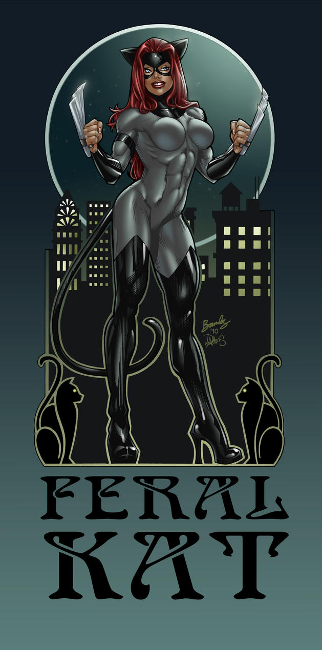 Feral Kat Art Nouveau in color by katfood25