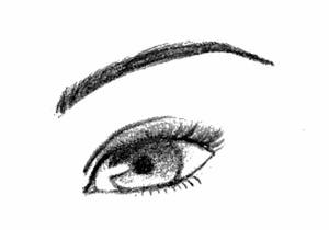 Semi-realistic eye