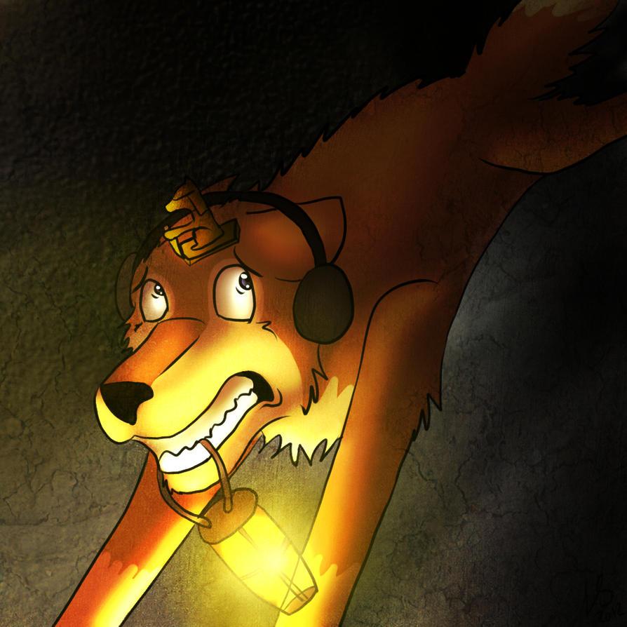 Pewdiepie as a Wolf ( Run Pewdie Run ) by Blackalphadragon96