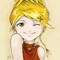 Rikku wink by look