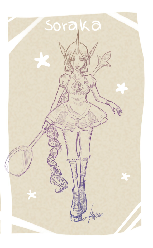 Soraka random skin idea by Cirath