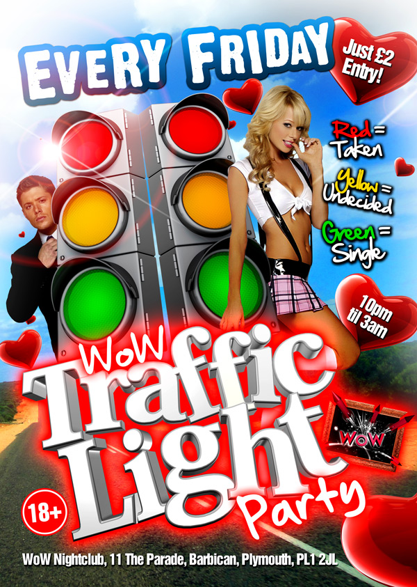 Wow Traffic Light Party A3 Poster By Jasonleespruce ...