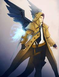 Steampunk Castiel by Sempaiko