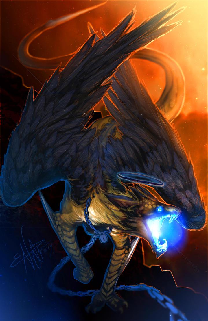 Castiel as a Dragon! by Sempaiko