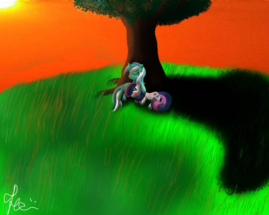 Lyra and Bon-Bon II by Bronyontheway