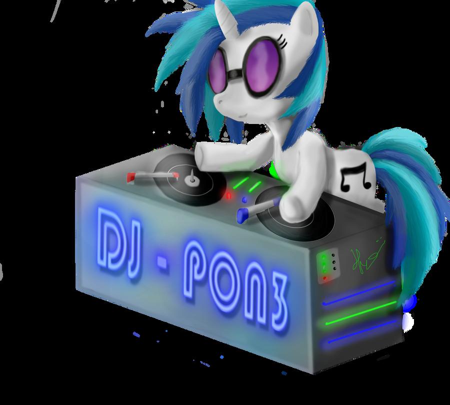 Vinyl Scratch - DJ-PON3 by Bronyontheway