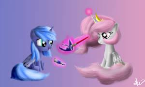 Young Celestia and Luna