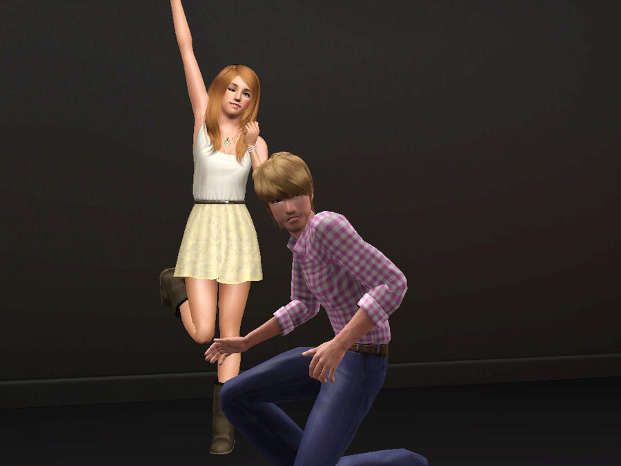Pewdiepie and Cutiepie- Sims 3 by missxmello