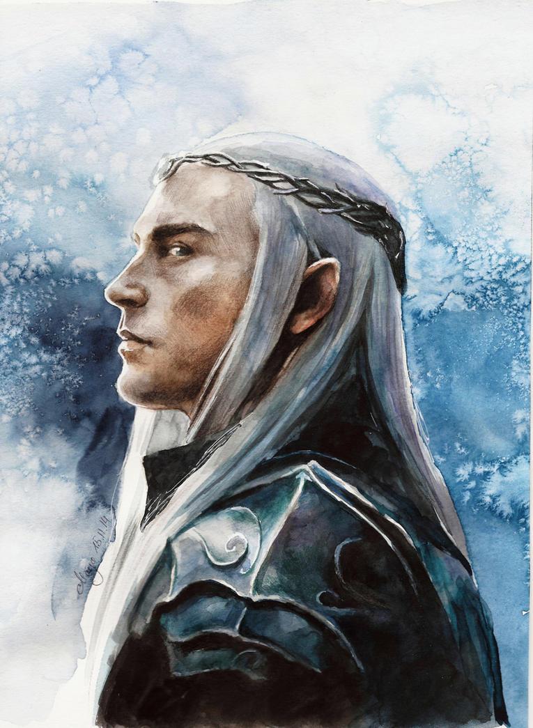 dibujos - el Hobbit  impresionantes dibujos Thranduil_by_maya_notliketheother-d86kmsk