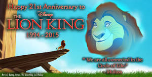 Happy 21st Anniversary To The Lion King
