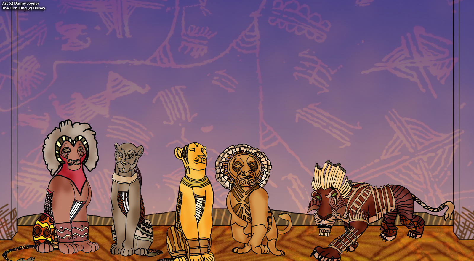 The Lions Of The Lion King Broadway By Rdj1995 On Deviantart