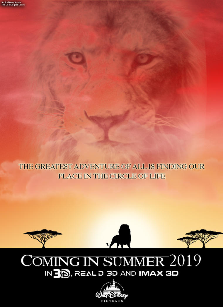 the lion king live action teaser poster by rdj1995 on