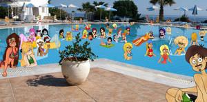 Pool Party with My Favorite Ladies by RDJ1995