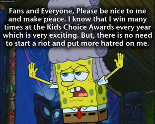 My Opinion on Spongebob's Winning at KCA by RDJ1995