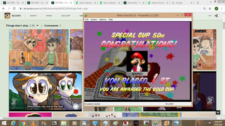 I beat the special cup and the game!!!