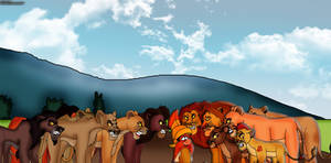 Surrounded by Angry Lions