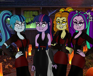 Twilight and the Dazzlings as Vampires