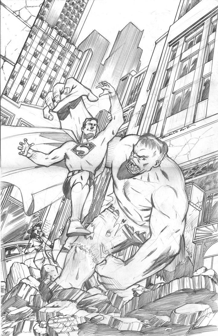 hulk vs superman coloring pages - photo#14