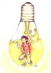 My bulb is lit by ShiOkami-chan