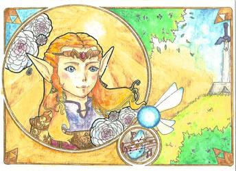 Zelda Art Nouveau by ShiOkami-chan