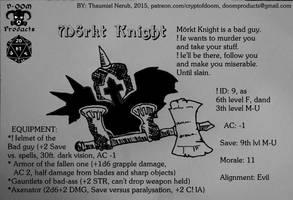 Morkt Knight by ThaumielNerub