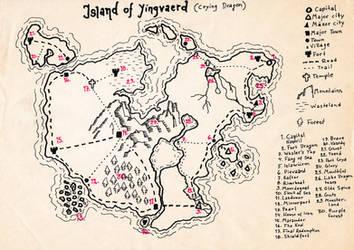 Island Of Yingvaerd (Crying Dragon) by ThaumielNerub