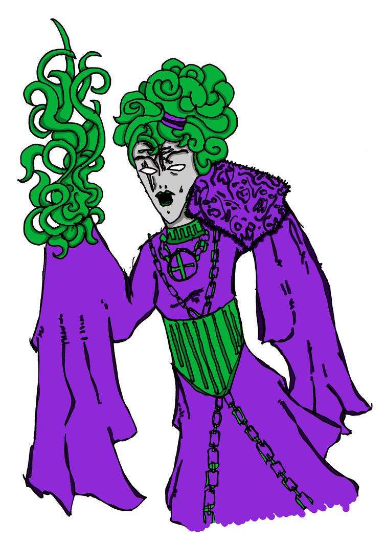 Purple Of Green Priestess Yolanda Ziggurat by ThaumielNerub