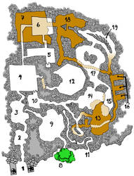 Dwarven Stronghold map colored by ThaumielNerub