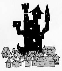 Village Toerd and Wizard Tower by ThaumielNerub
