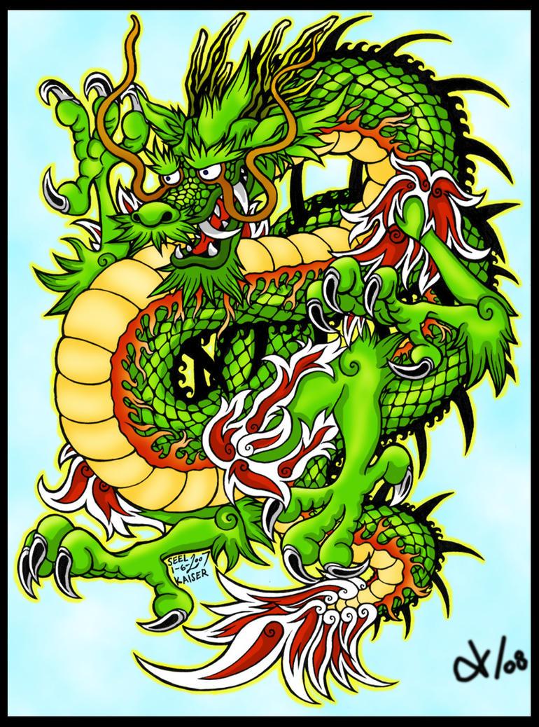 Inky Dragon Color by Tigo by tigodepresso on DeviantArt