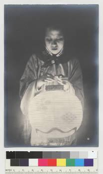 Woman with Lantern, pre 1910