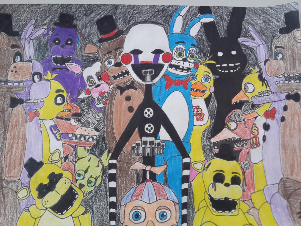 Five nights at freddy s all the animatronics by mtc40 on deviantart