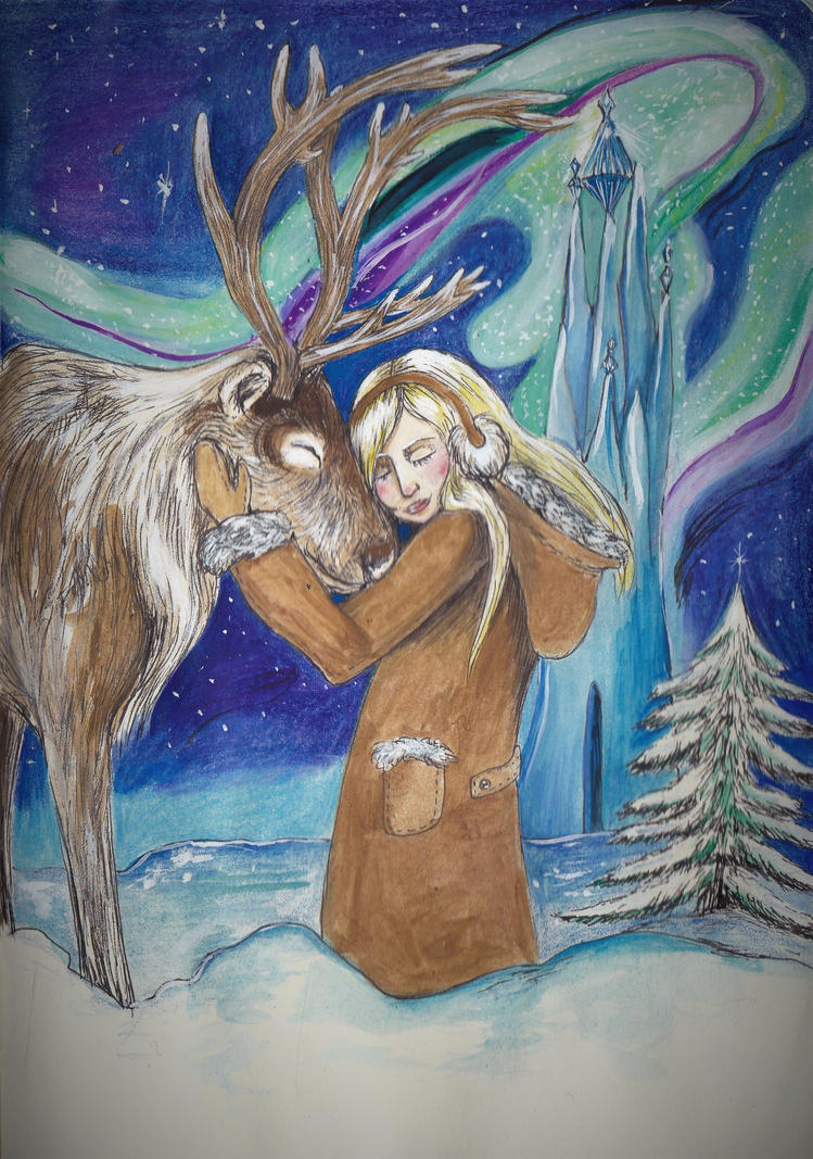 Gerda and the reindeer by juliet999