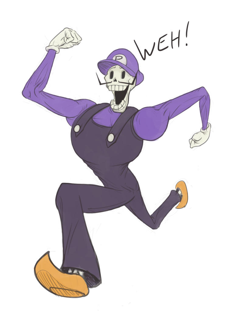 Papyrus as Waluigi by ClydeWuts on DeviantArt