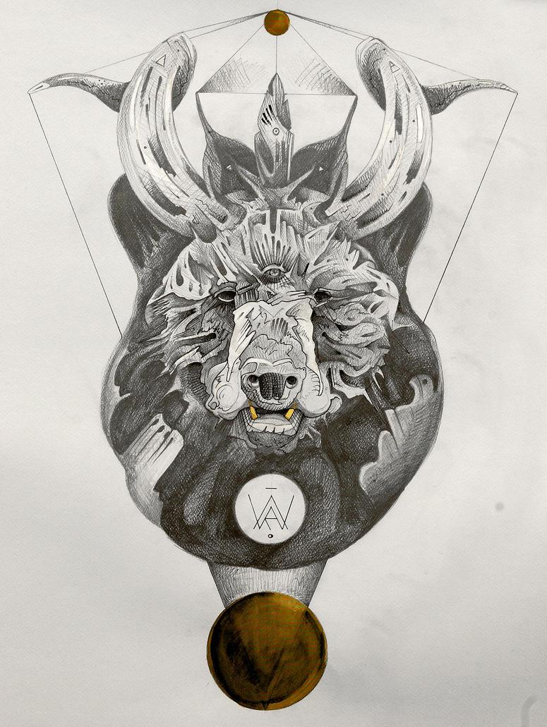 Totem / tattoo design prototype by Flind