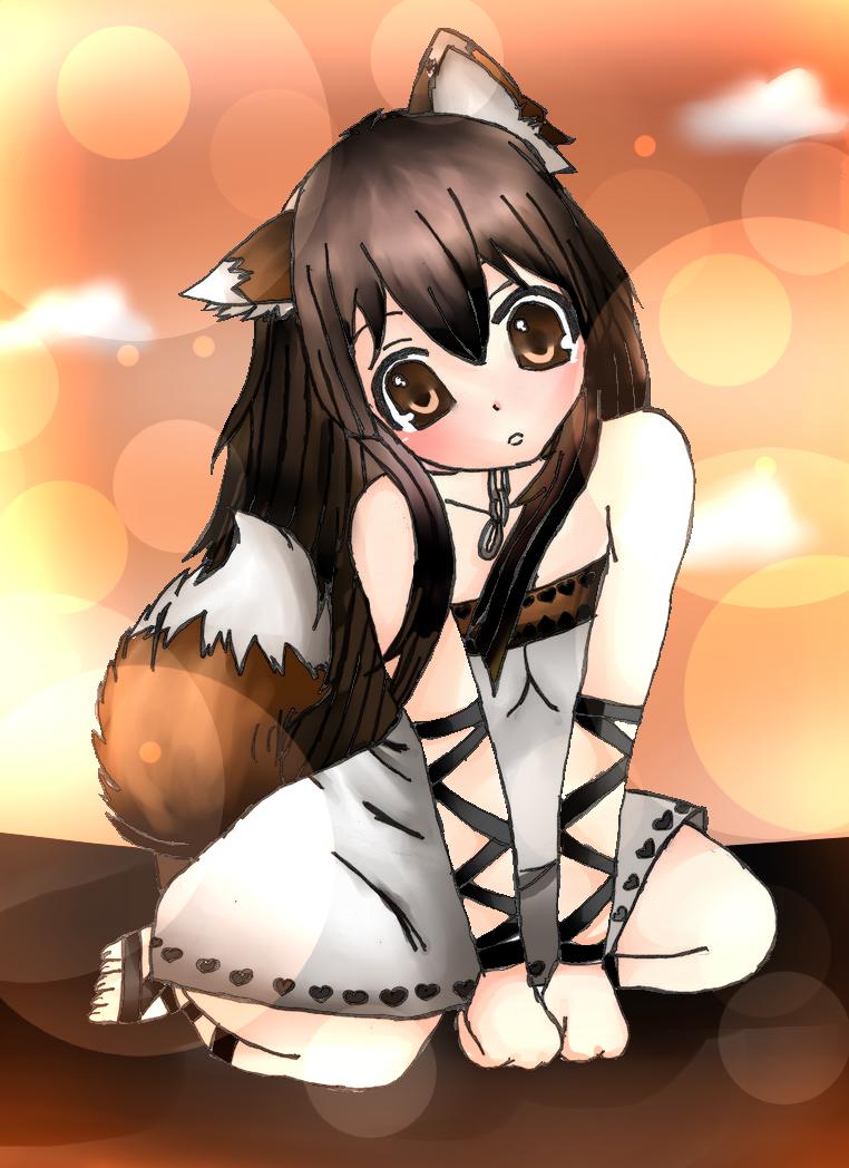 Anime Fox Girl Kawaii By Raiyenn On Deviantart