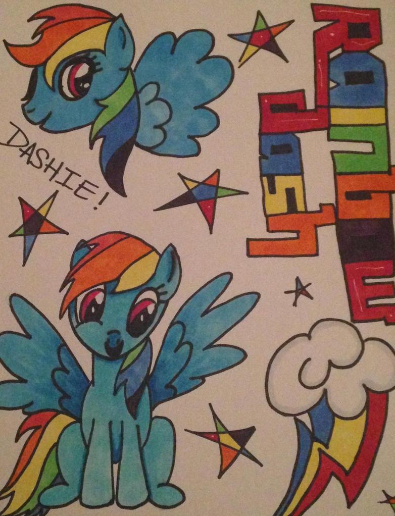 .:Rainbow Dash:.collab with demonkitsune31:. by criticallyAbnormal
