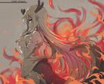 Tohru on fire