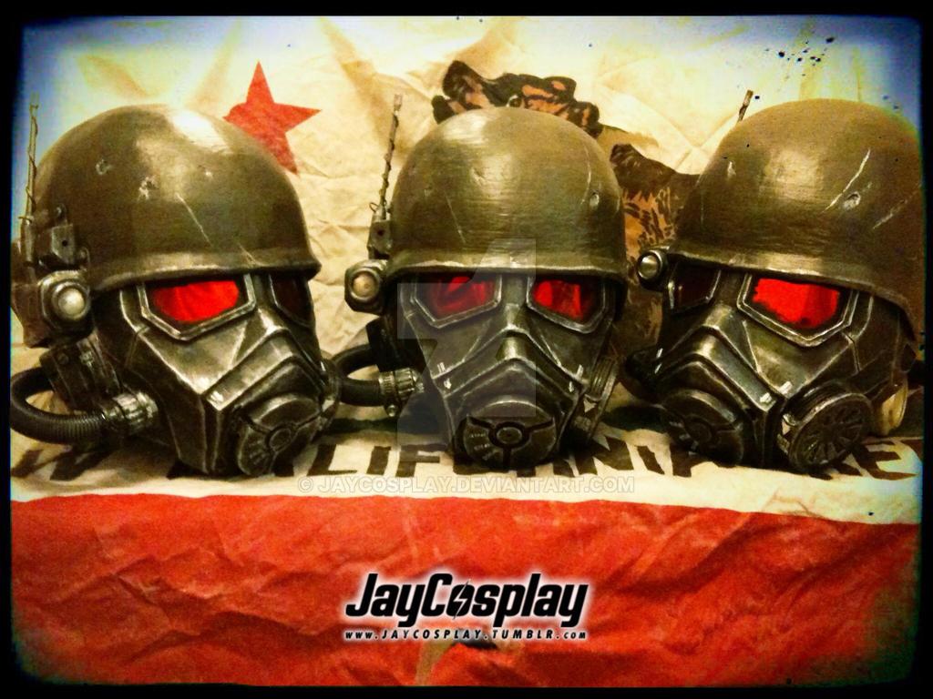 NCR Veteran Ranger Helmets 01 by JayCosplay