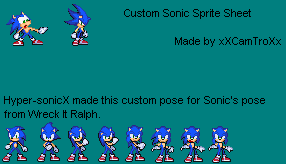 [TRUE COLOR] Updated Custom Sonic Poses by xXxCamTroxXx