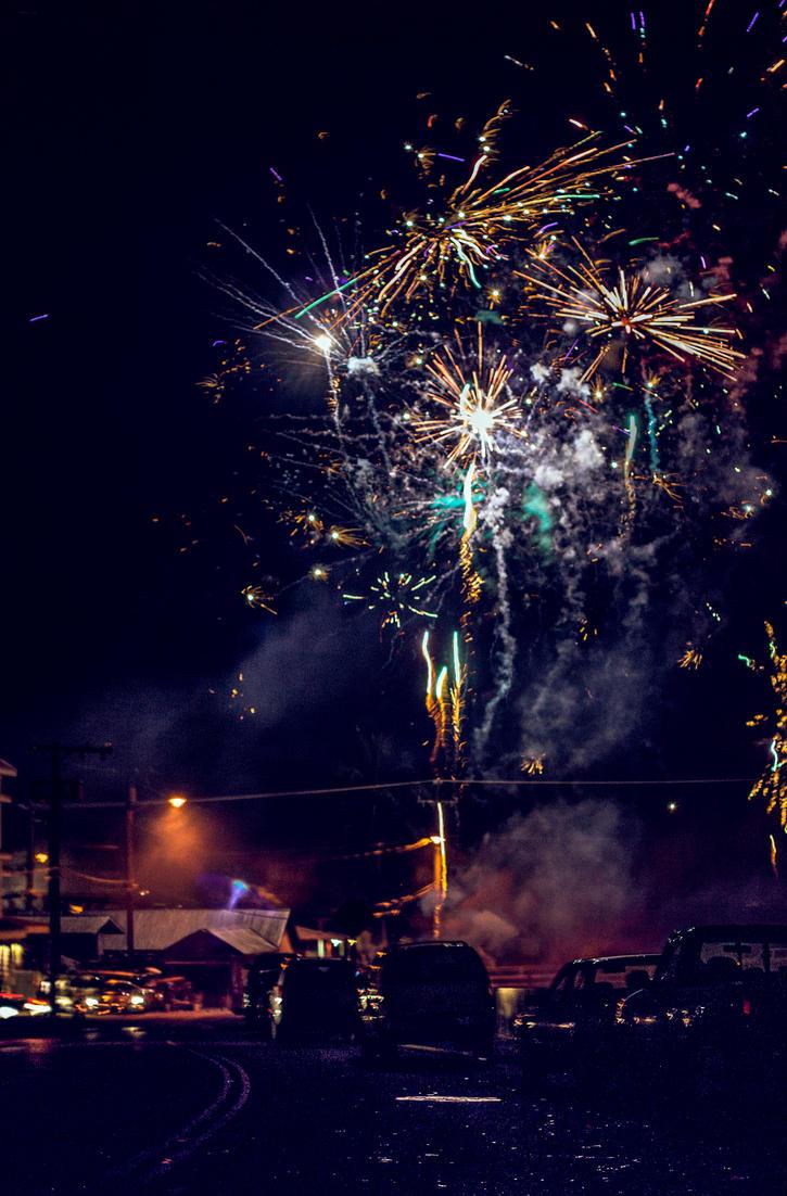 Wailuku Fireworks Composite by jbritz22