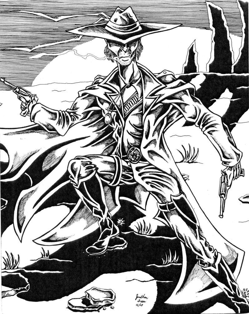 Diablo the gunfighter by thinmanink on deviantart - Gunfighter wallpaper ...