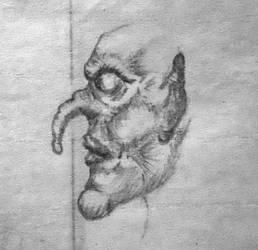 Shnozferatu Concept Sketch profile