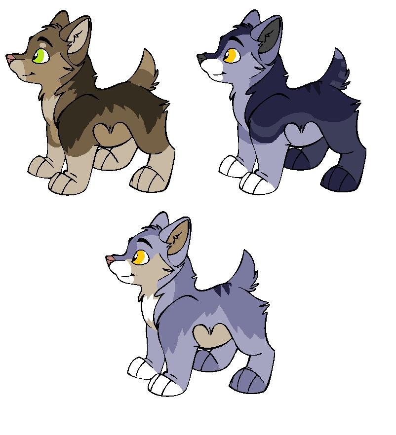 NightmareAdoptables Pups by Dandilion-Kennels