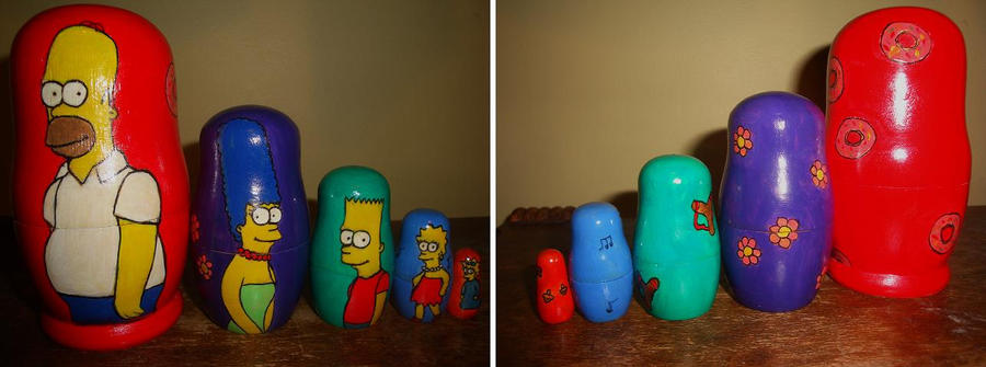 The Simpsons Nesting Dolls by bachel60