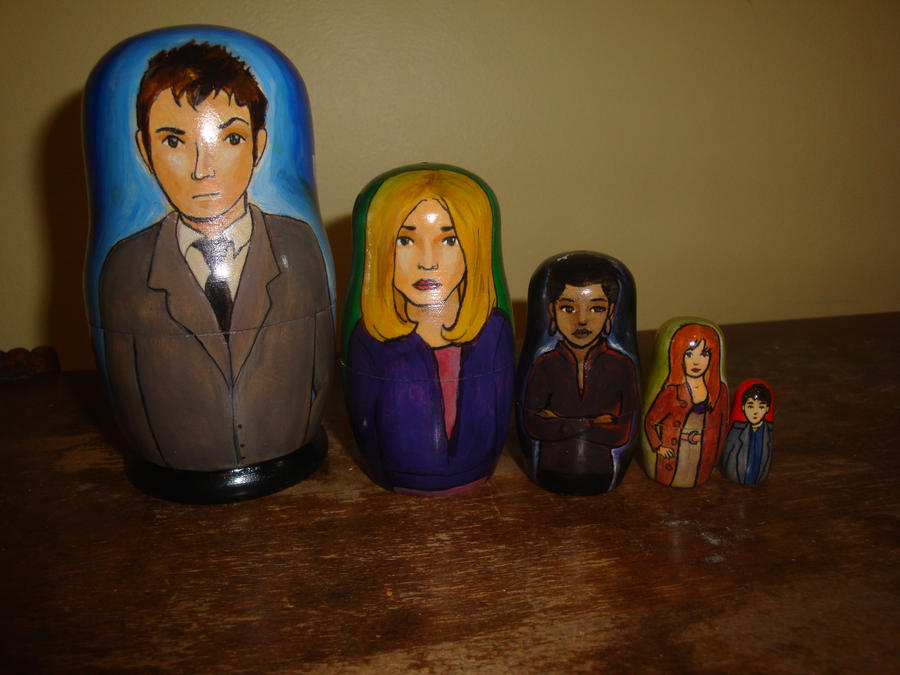 Doctor Who Tenth Doctor Nesting Dolls by bachel60