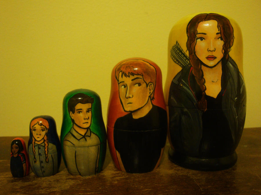 Hunger Games Nesting Dolls by bachel60
