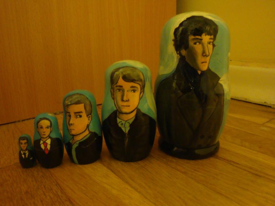 Sherlock Nesting Dolls (2) by bachel60
