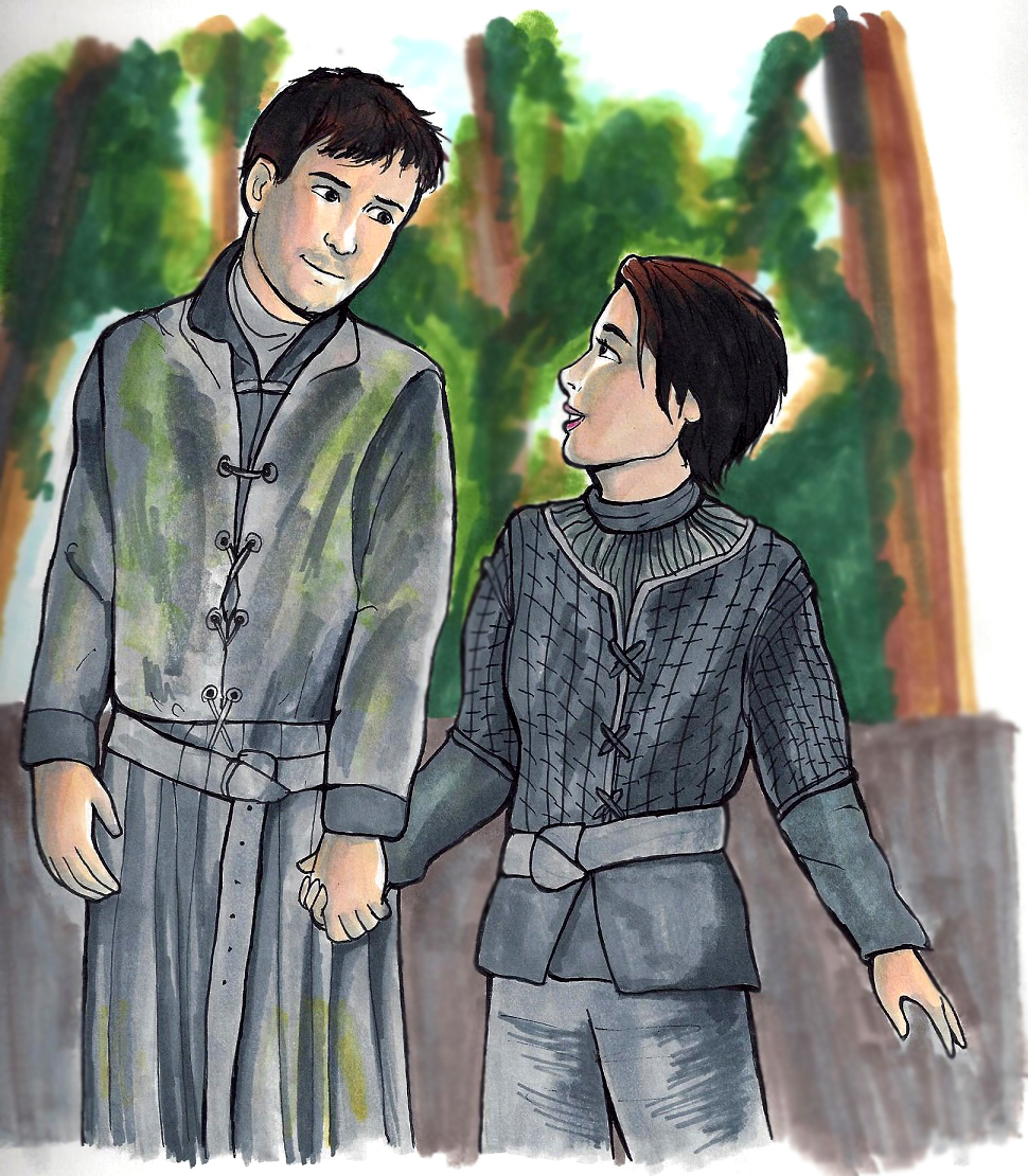 Gendry and Arya by bachel60