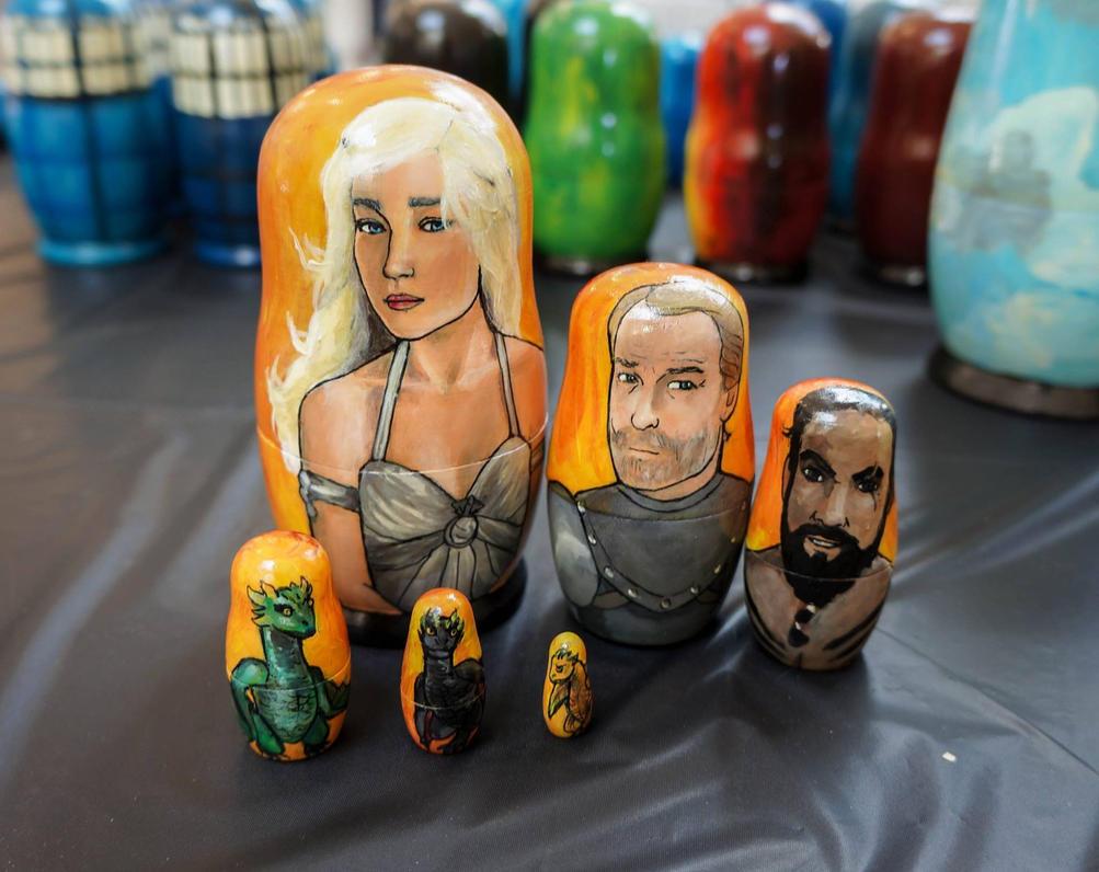Set of Six Daenerys Nesting Dolls by bachel60